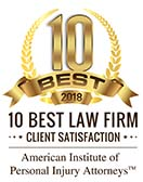 10 best law firms 2018 badge